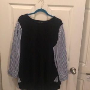 Lane Bryant Pinstripe sleeve blouse